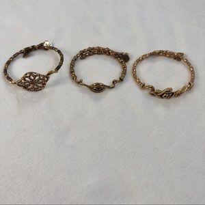 Gold Alex and Ani Bracelets